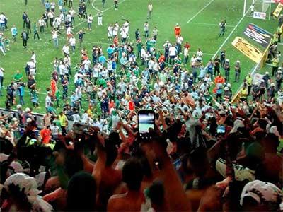 festa pameiras campeão da copa do Brasil 2015