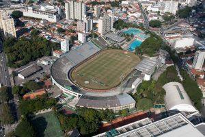 Imagem aérea do estádio Palestra Itália.